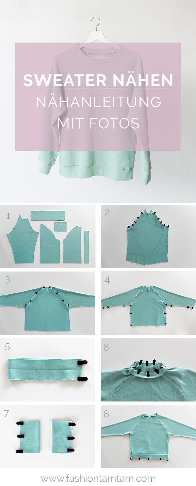 Nähanleitung: Sweater mit Raglanärmeln nähen – fashiontamtam.com