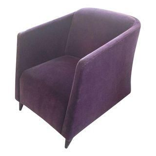 Purple Mohair Art Deco Chairs - Set of 2