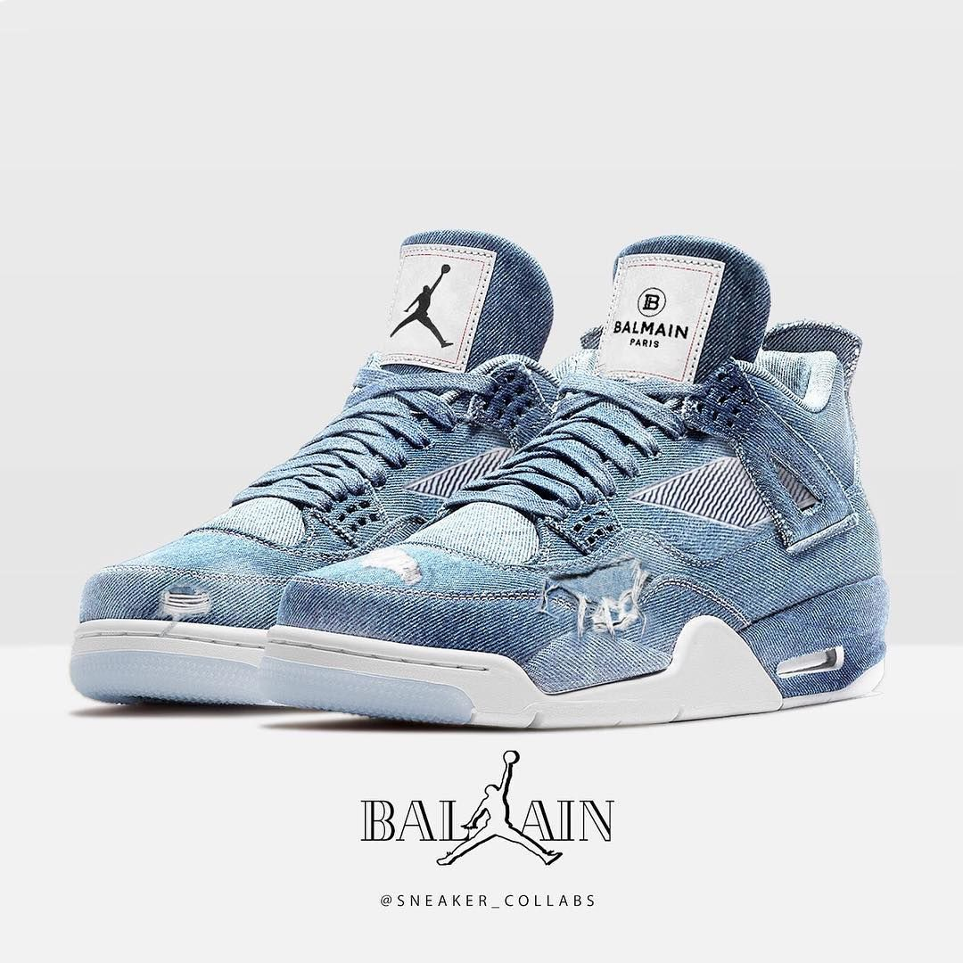 ⁉️Cop or Drop⁉️ Balmain Jeans x Jordan 4 Art by sneaker