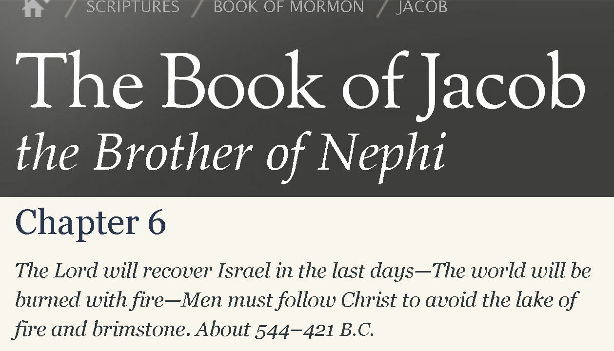 Read the Book of Mormon Jacob 6 - The Importance of the Soft Heart