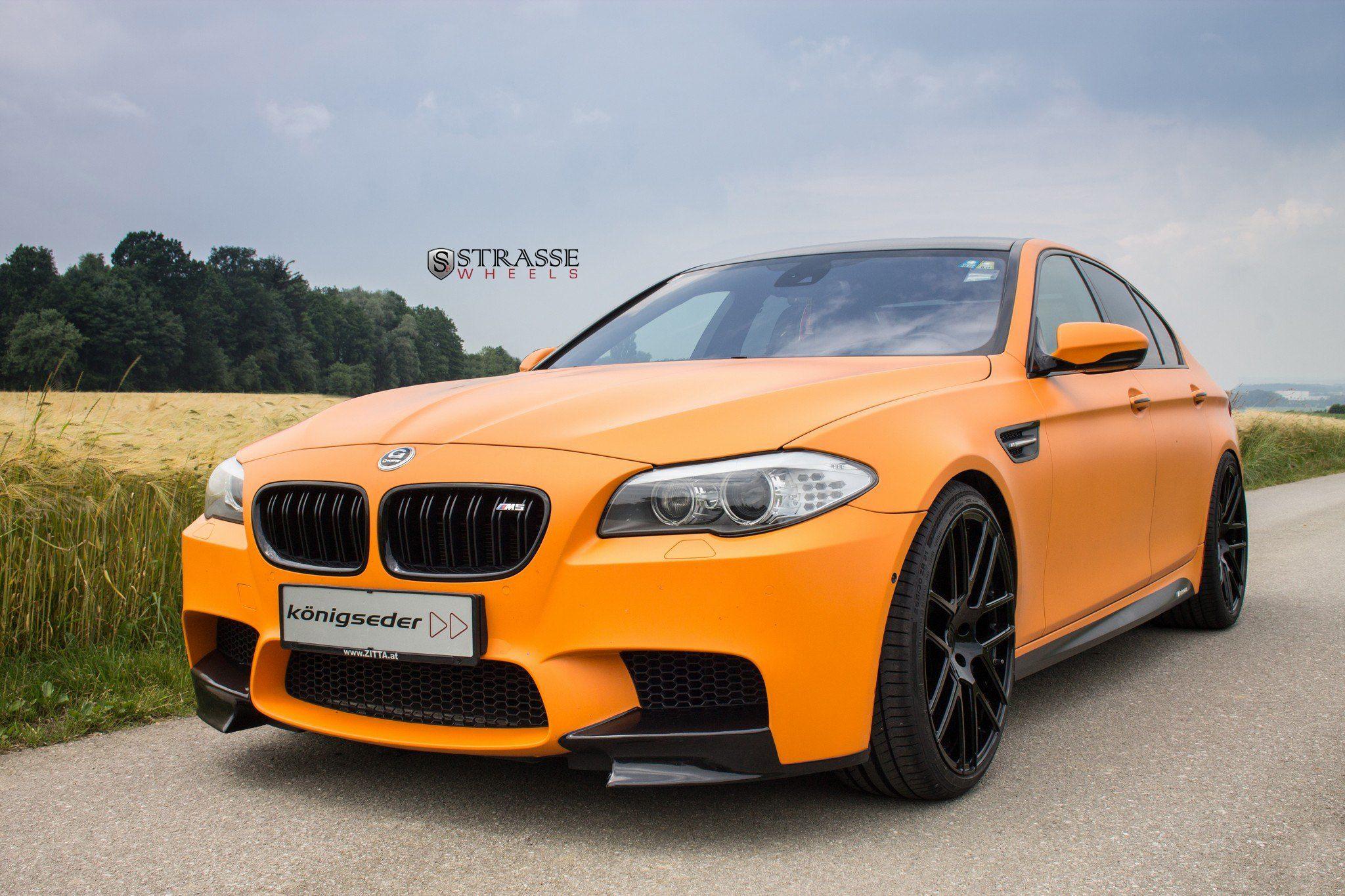 Neckbreaking Bespoke Matte Orange Bmw 5 Series Bmw Bmw M5 F10