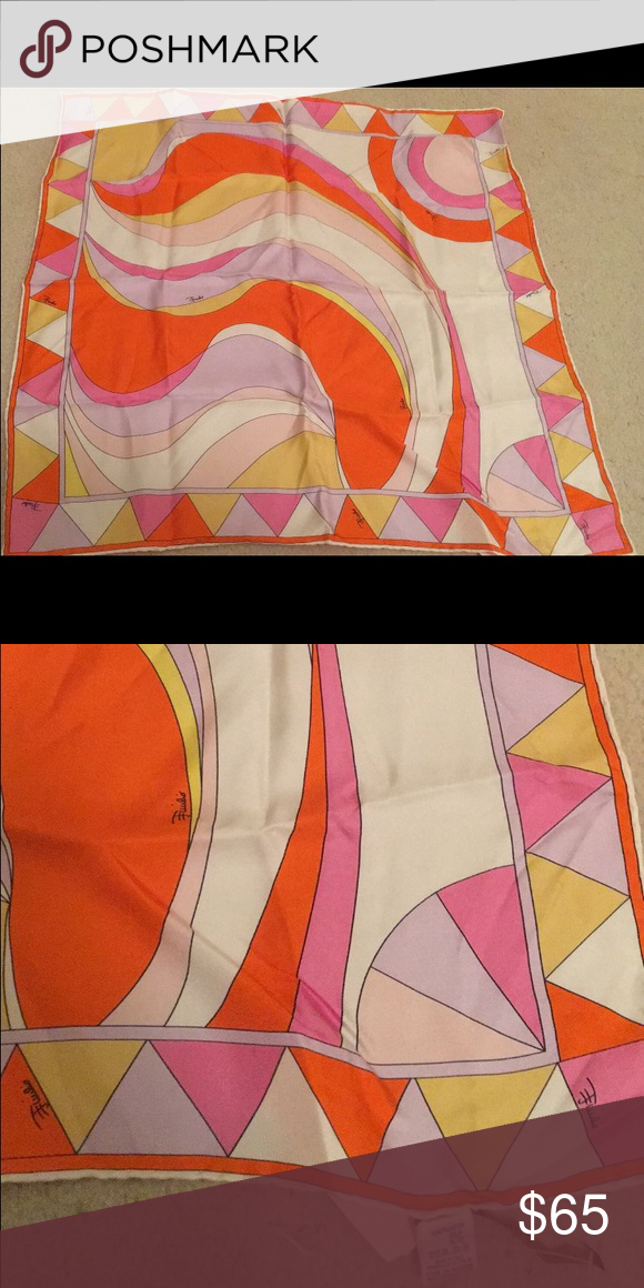 Emilio Pucci Silk Print Scarf Gorgeous, rare print Emilio Pucci Accessories Scarves & Wraps
