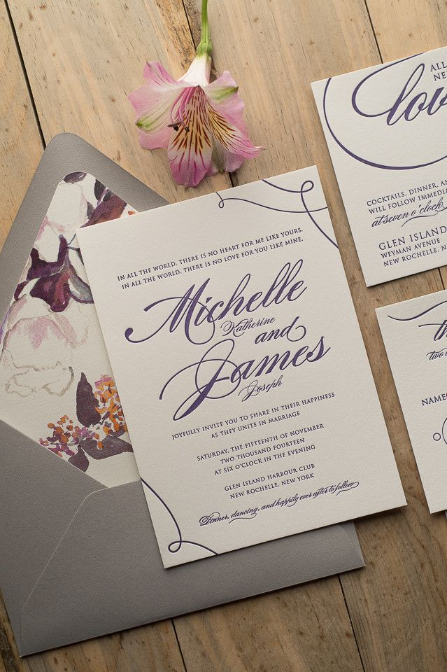 Gorgeous Wedding Invitations | Colored envelopes, Beautiful fonts ...