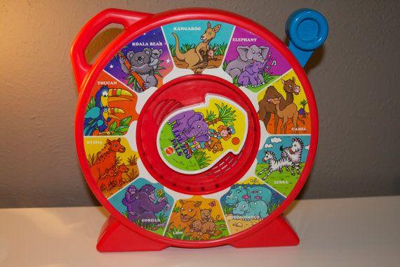 """Mattel 1991 Vintage """"Lil Zoo Pals"""" See N Say on Etsy, $8.00"""