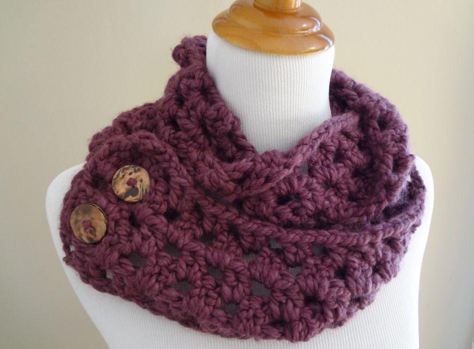 Снуд-шарф нав пуговицах. Простой вариант | Crochet | Pinterest