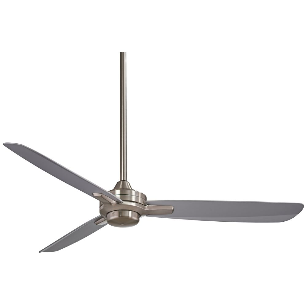 52 Minka Aire Rudolph Brushed Nickel Silver Ceiling Fan Style