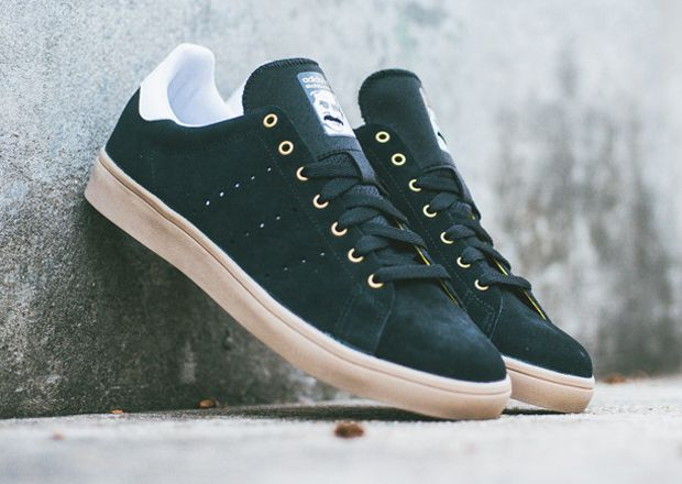adidas Skateboarding Stan Smith Vulc - Black - Gum - SneakerNews.com