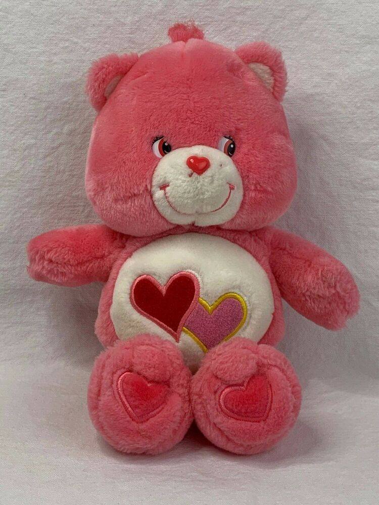 """Play A Long Care Bears Love A Lot Pink 12"""" Plush DOES NOT"""