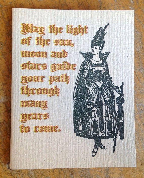 Pagan Birthday Wish Letterpress Card Pagan Respected Pinterest