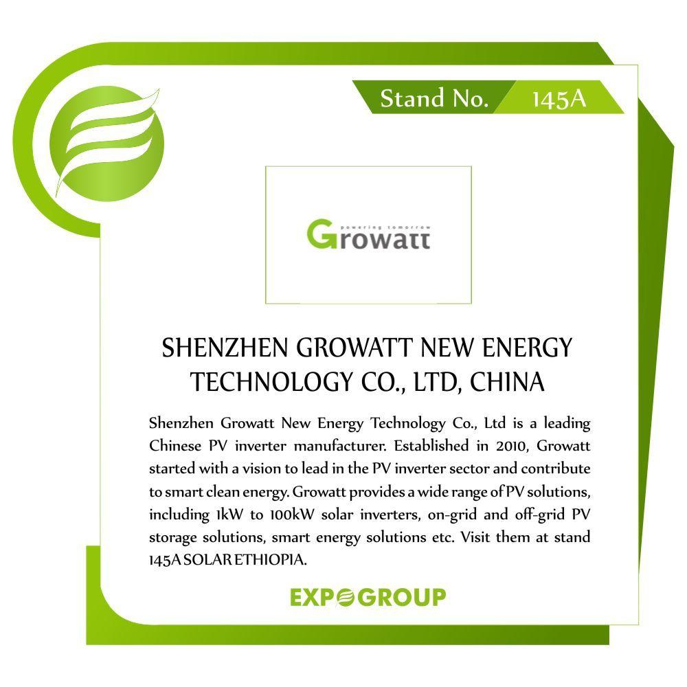 Shenzhen Growatt New Energy Technology Co Ltd Is A Leading
