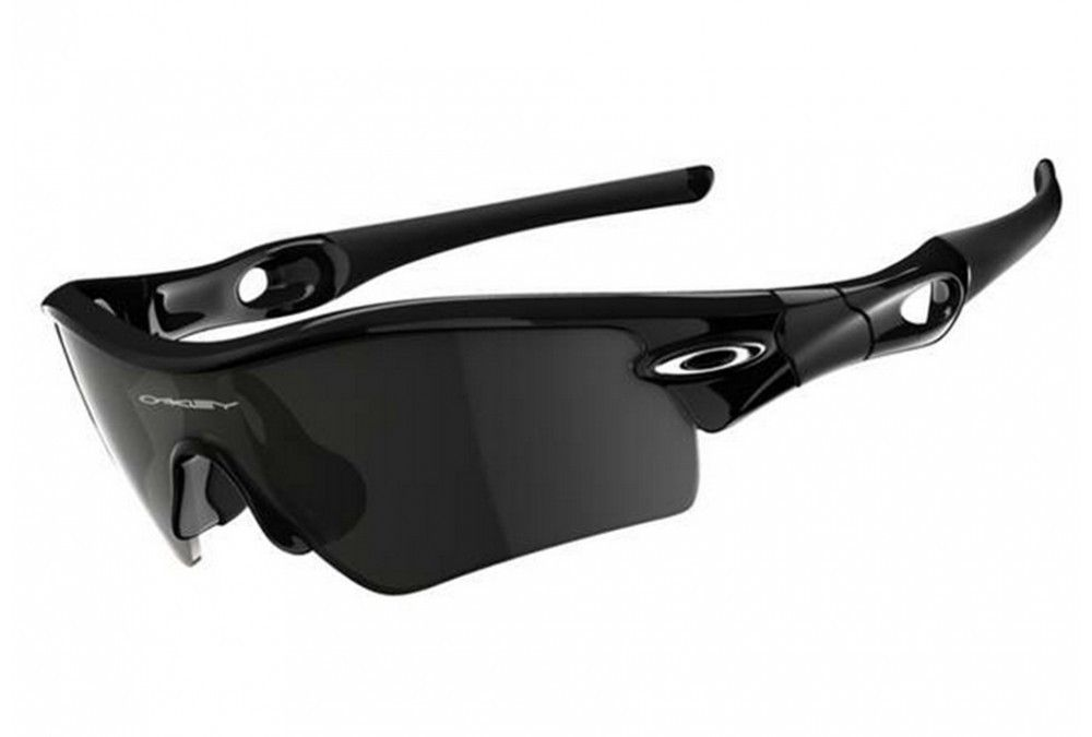 f9e9706d8c09c Oakley Sunglasses (Men s Pre-owned Radar Path Polished Black Iridium  Plutonite Sport Sun Glasses)