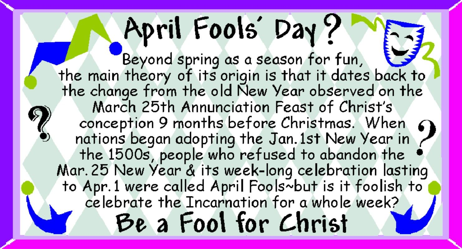 Did you know that April Fools day falls on Easter Sunday this year?   Christian Funny Pictures ...