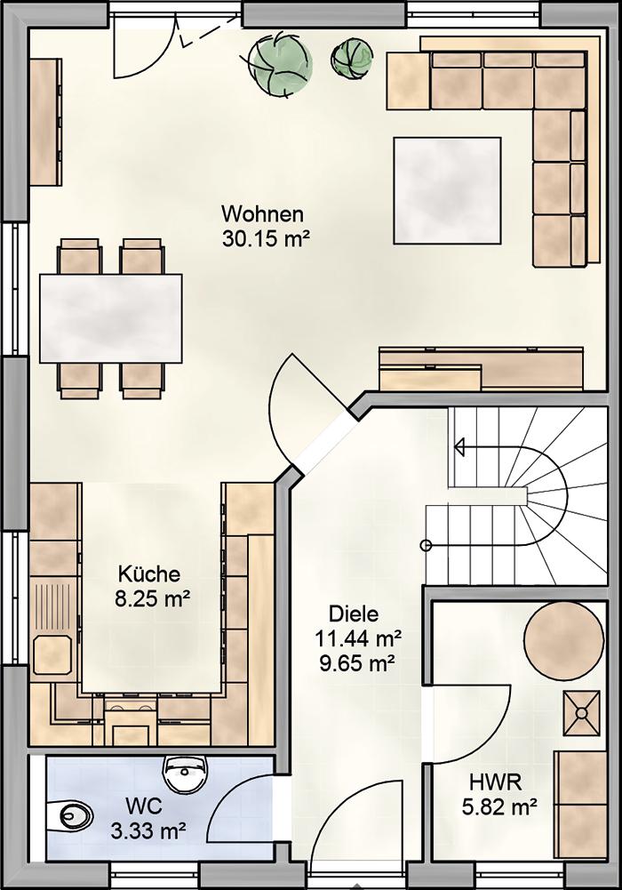 ᐅ Doppelhaus bauen ᐅ 106 qm Doppelhaus Grundrisse