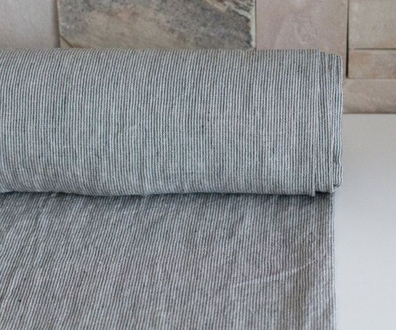 Pure 100 Linen Fabric 200gsm Striped Linen Fabric Natural Not Dyed With Dark Gray Narrow Strips Washed And Softened Linen Fabric Linen Fabric Buy Fabric Striped Linen