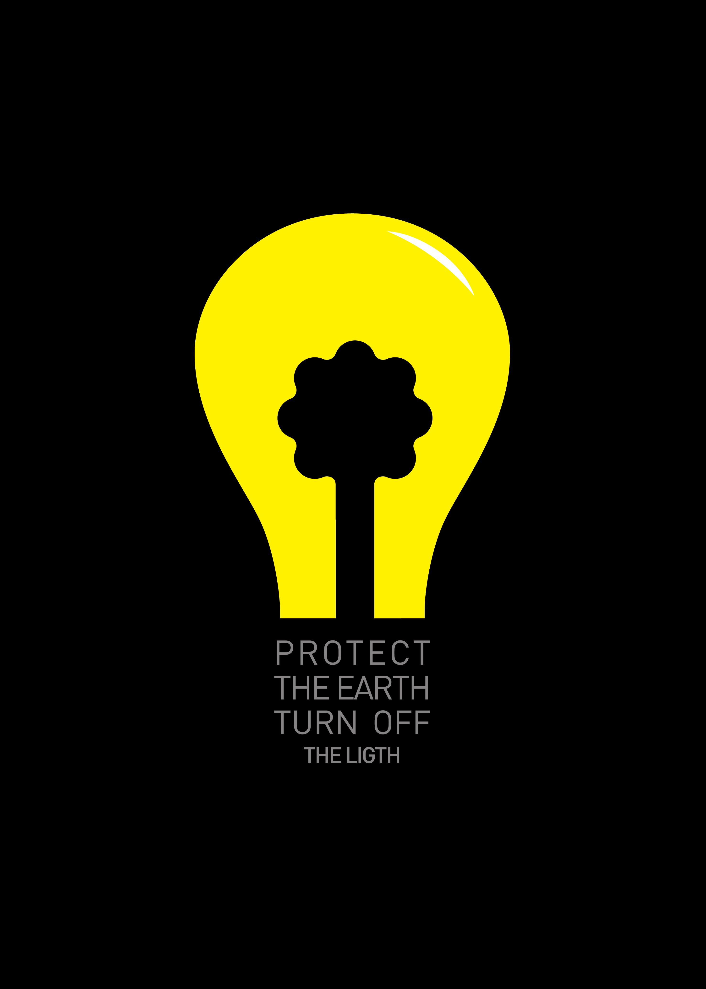 protect the earth turn off the light energy saving