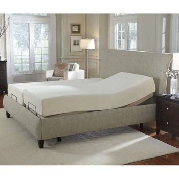 Sleep Science 10 Memory Foam Split King Mattress With Adjustable Base Adjustable Beds Adjustable Bed Base King Mattress