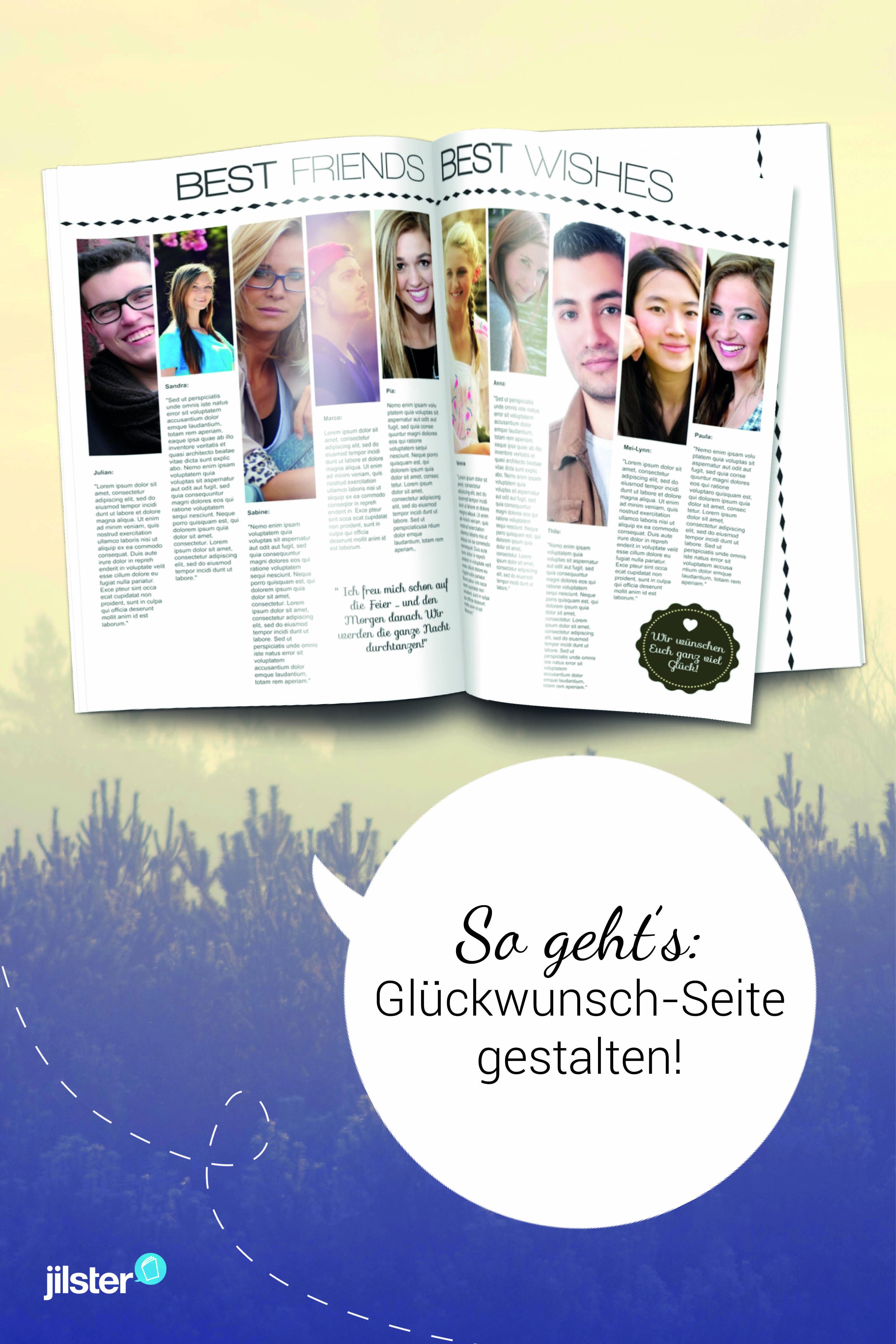 Eine Glückwunschseite Für Deine Zeitschrift Gestalten