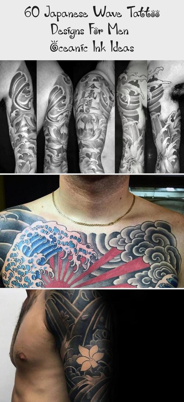 Photo of 60 Japanese Wave Tattoo Designs For Men – Oceanic Ink Ideas – Tattoos and Body Art