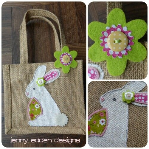 Easter gift bags bunny rabbits my work jennyeddendesigns easter gift bags bunny rabbits negle Images
