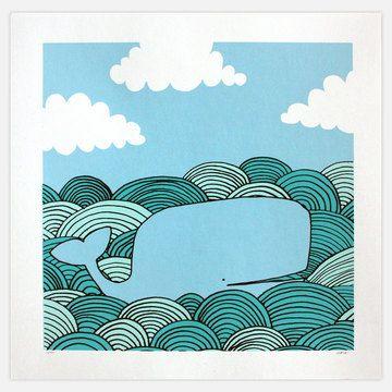 Whale Print by Jen Skelley