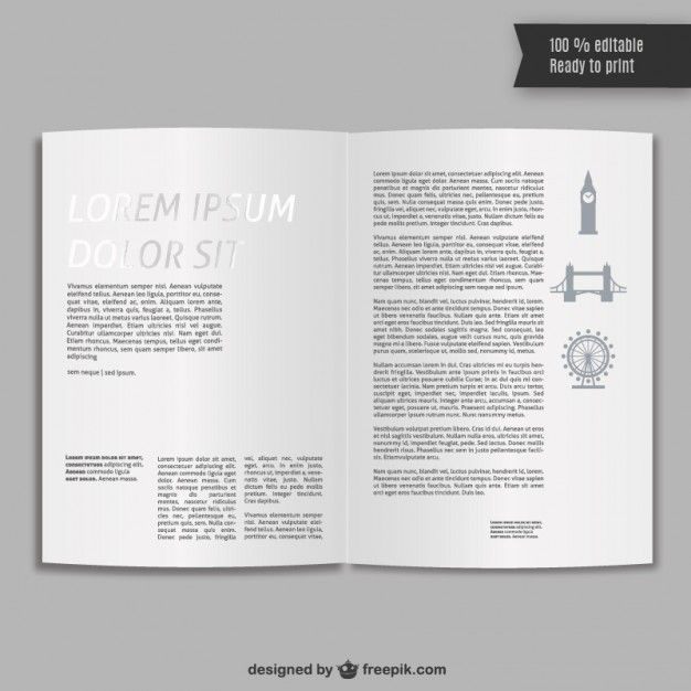 Pin by Aomamp Tephasadin on ♥ Vector | Pinterest | Booklet template ...