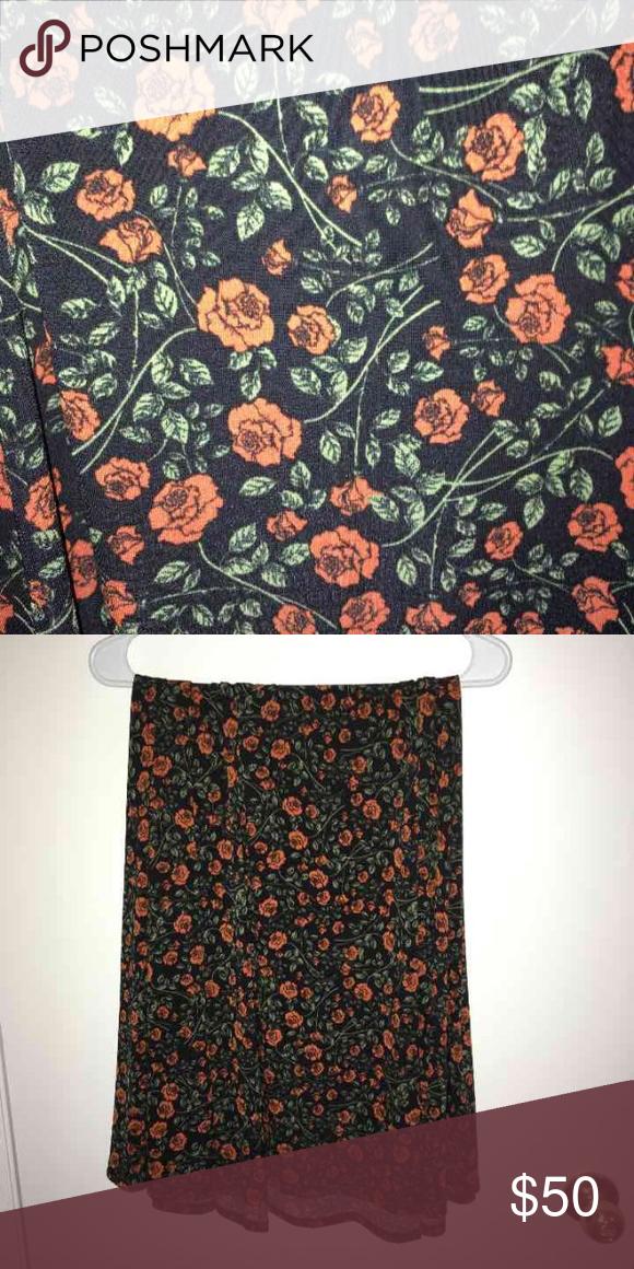 2b4d7ba06 LuLaRoe XS Maxi Skirt NWT Great floral print with BLACK background! LLR Maxi  skirt Size
