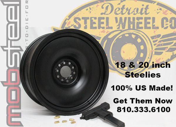 Hubgarage Com 18 And 20 Inch Steel Wheels Detroit Steel Wheels Steel Wheels Car Wheels Rims
