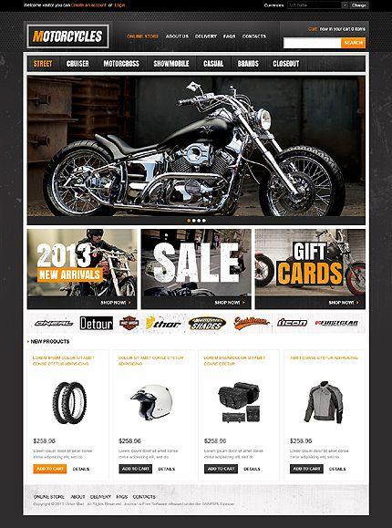 Motorcycles VirtueMart Template   Template and Web design inspiration