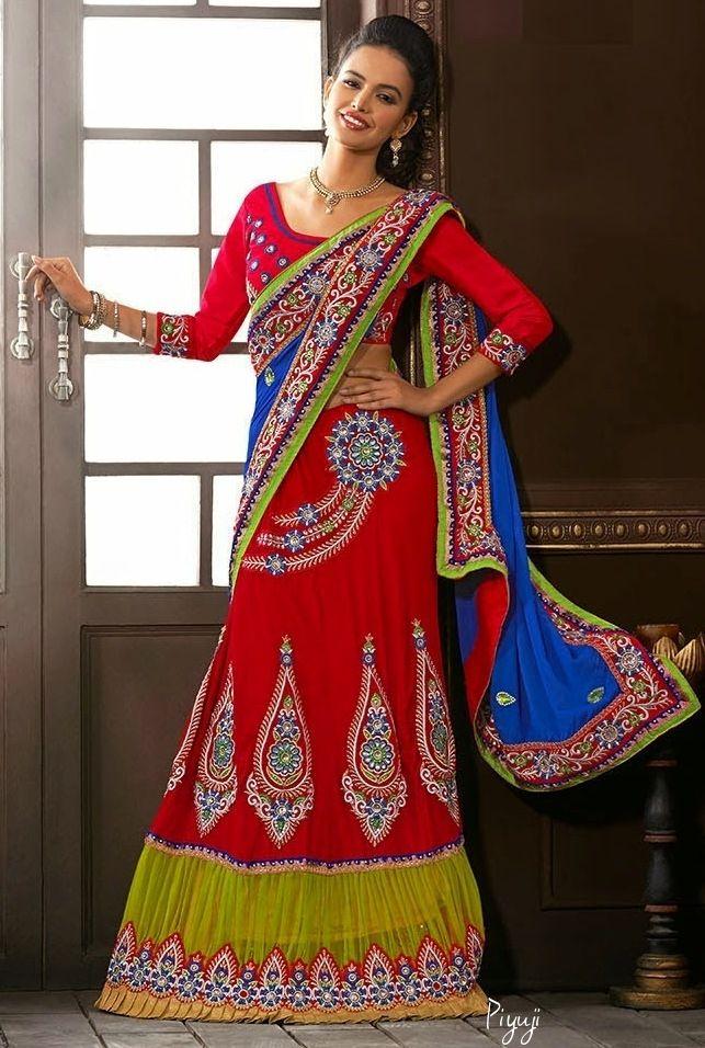 Lovely Bridal lehenga Sarees #piyuji #fashion