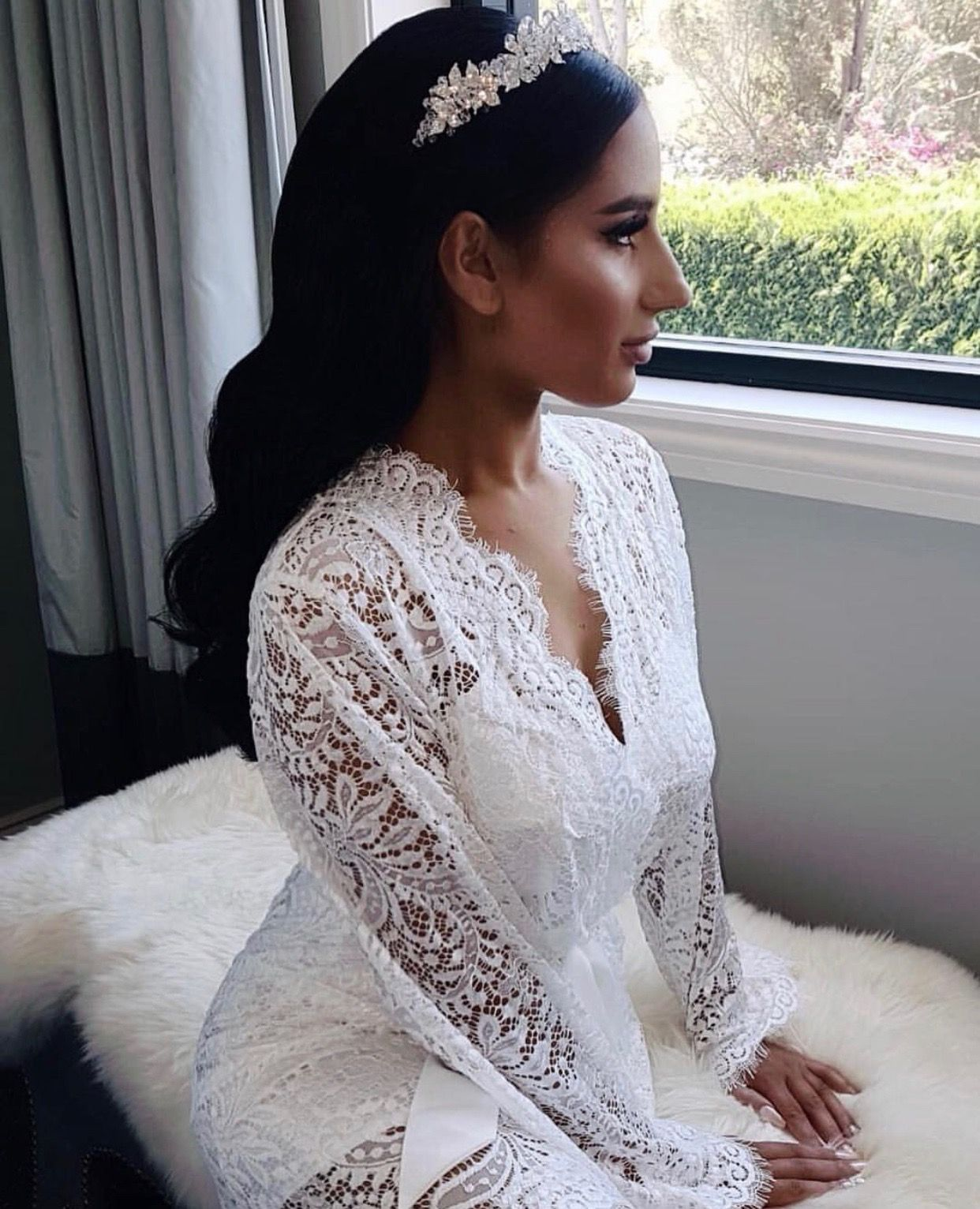 5bf0ec42a46d @x__rere__x looking like a real life Disney princesses in Homebodii's  Kassiah Long Lace Robe as