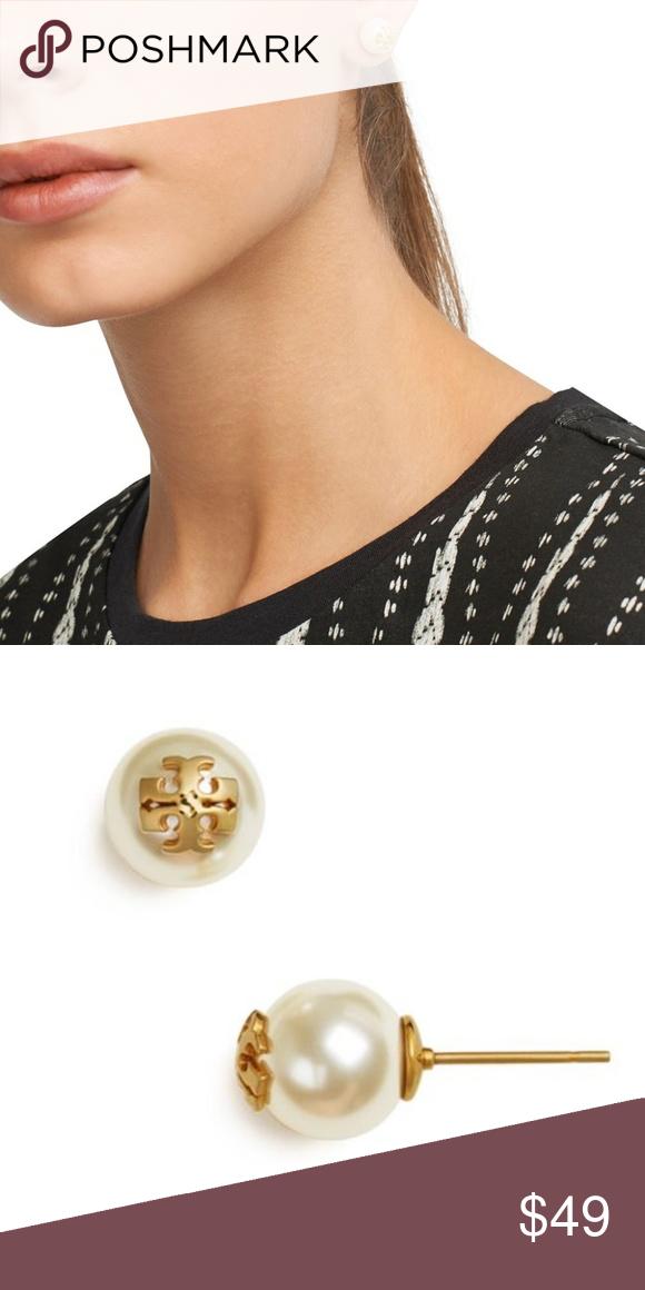 f78b2842ffc Tory Burch Logo Stud Earrings Tory Burch Logo Stud Earrings - 0.4