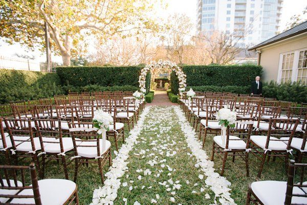 Wedding Ceremony Ideas Flower Covered Wedding Arch: A Petal Covered Ceremony Site At Houston's Bayou Bend