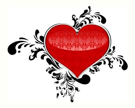 55 Free Ornamental Heart Vector Files For Valentine's Day | Antara's Diary