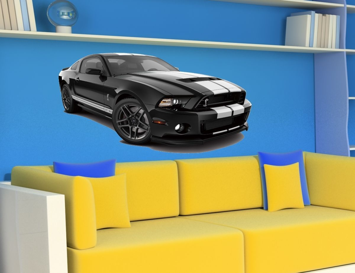 $10.99 - Wall Stickers Cars Mustang Gt500 Shelby Decor Sticker Decal ...