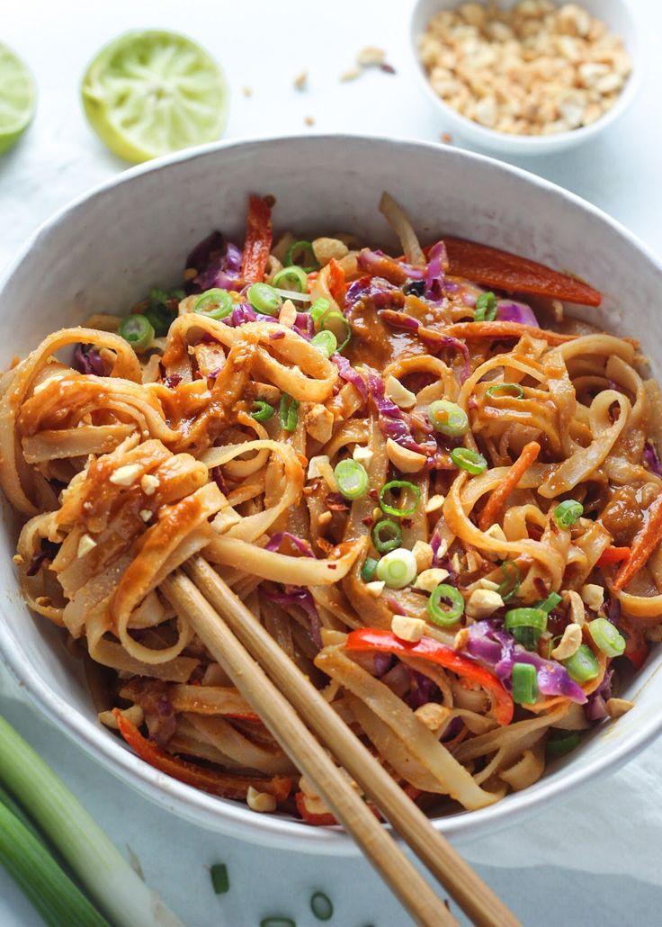 Creamy Pad Thai Noodles Recipe In 2020 Pad Thai Noodles Pad Thai Thai Noodles