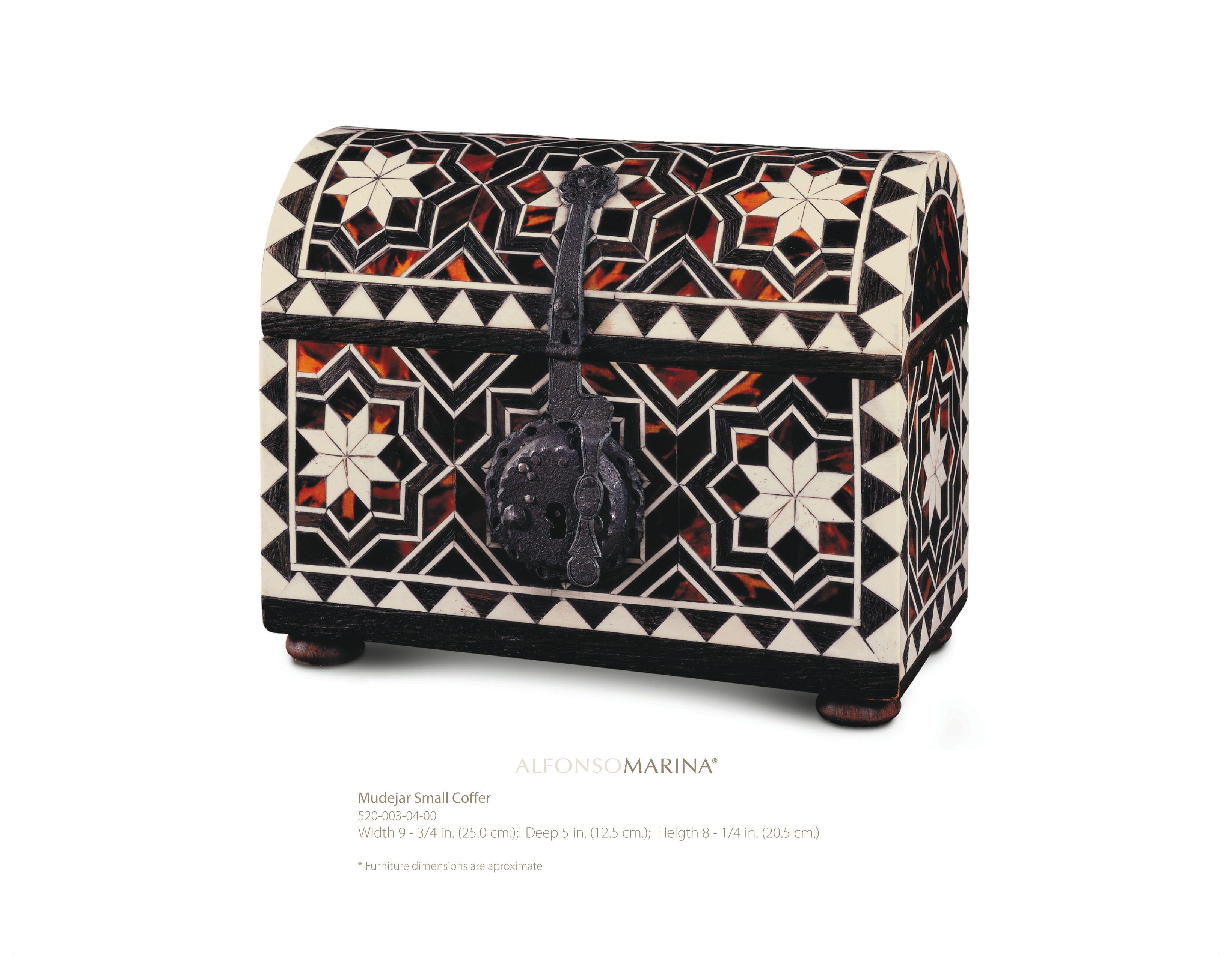 Mudejar Small Coffer By Alfonso Marina Ebanista Art Persan  # Muebles Mudejar
