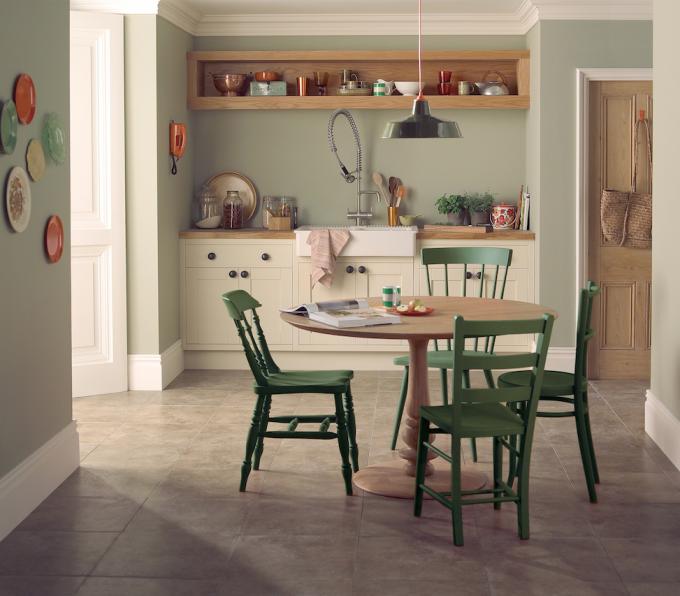 Sillas verdes en mi cocina como pintar las sillas...   cocinas ...