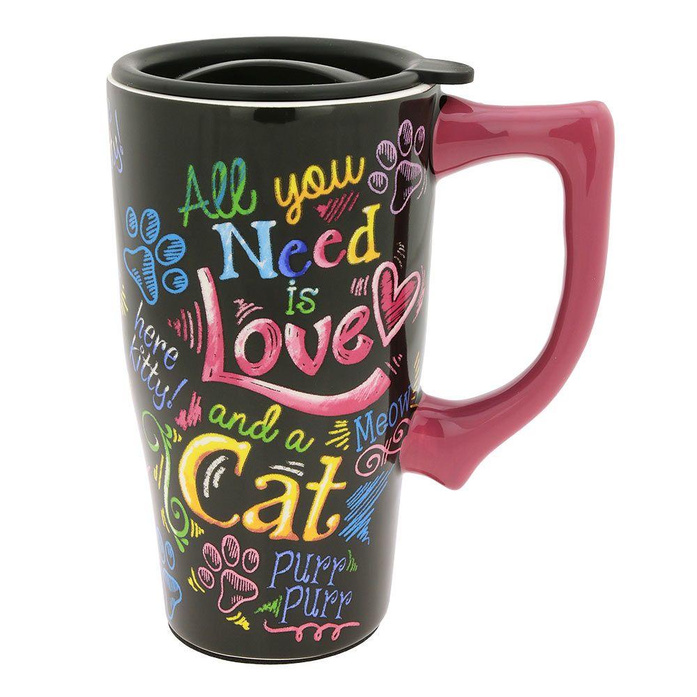 "Tasse Latté-CAT /""All you need is love/"""