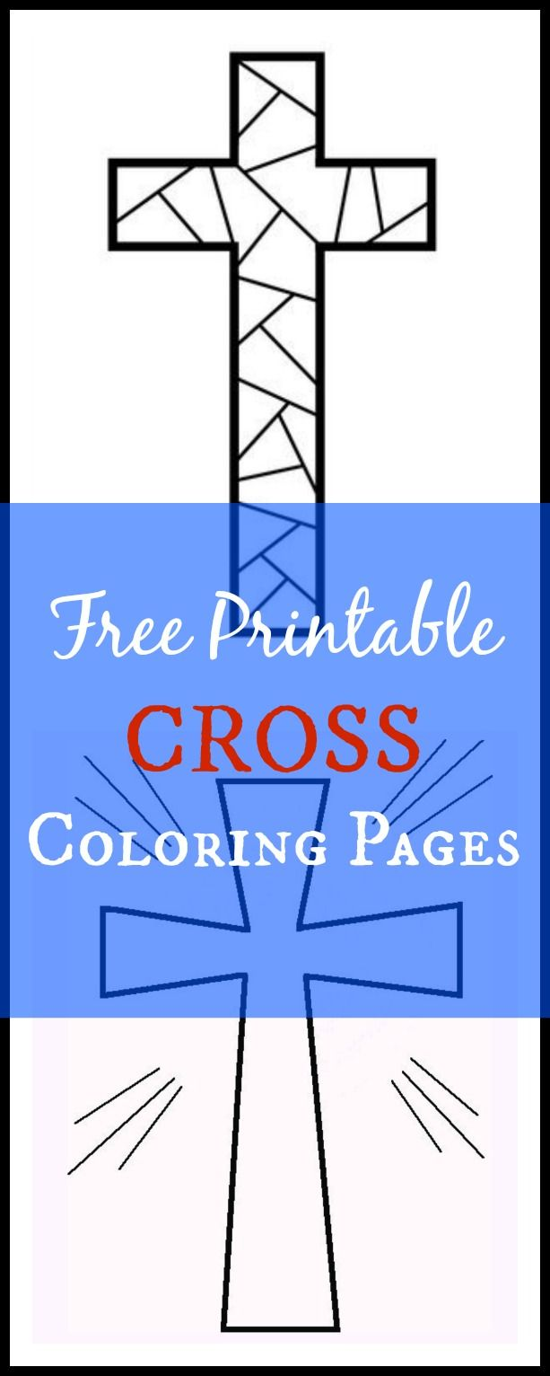 Free Printable Cross Coloring Pages | Stenciling, Free printable and ...