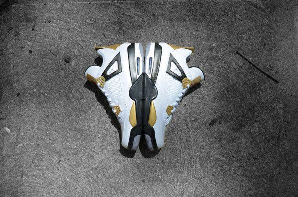 """622c0621cb1ae4 Air Jordan IV """"Gold Digger"""" Customs by DMC Kicks"""