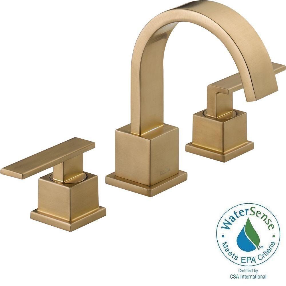 Delta Vero 8 In Widespread 2 Handle Bathroom Faucet With Metal