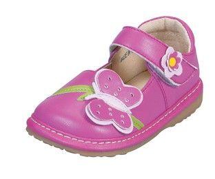843aaee4a7e Hot Pink Butterfly Girls Toddler Shoe