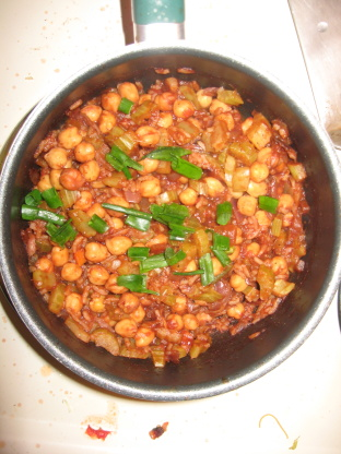 Gingery Chickpeas in Spicy Tomato Sauce Recipe  – Low-cholesterol.Food.com