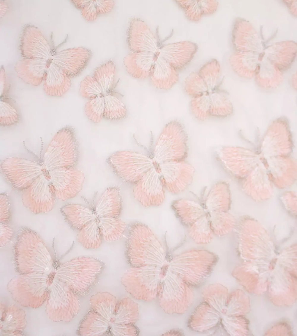 Sew Sweet Sequin Fabric Light Pink Butterfly Border Joann In 2020 Baby Pink Aesthetic Pastel Pink Aesthetic Pink Photo