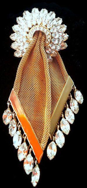 Bigiotteria Americana Vintage NAPIER spilla GRANDE strass dorato RARA vedi WOW!! in Orologi e gioielli, Gioielli antichi, Bigiotteria | eBay