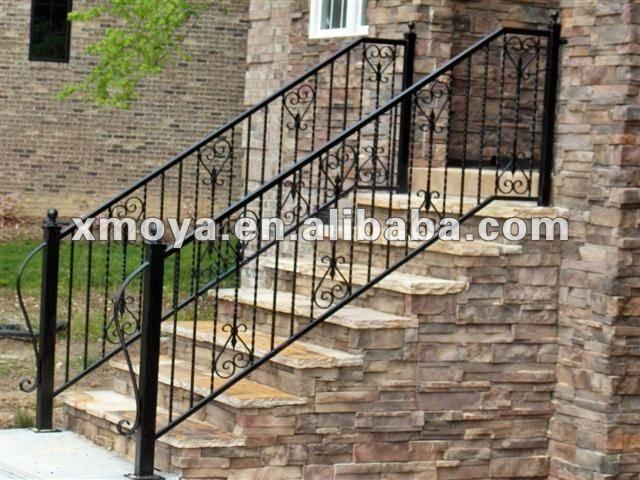 Exterior de hierro forjado pasamanos de escaleras buy for Barandilla escalera exterior