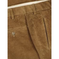 Photo of Cord trousers with pleats, Morello-U by Hiltl in light brown for men Hiltl