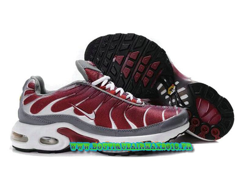 finest selection 1ab37 a632f Nike Air Max Tn Requin Tuned 2013 Chaussues Nike Basket Pour Homme  Rouge Gris Blanc