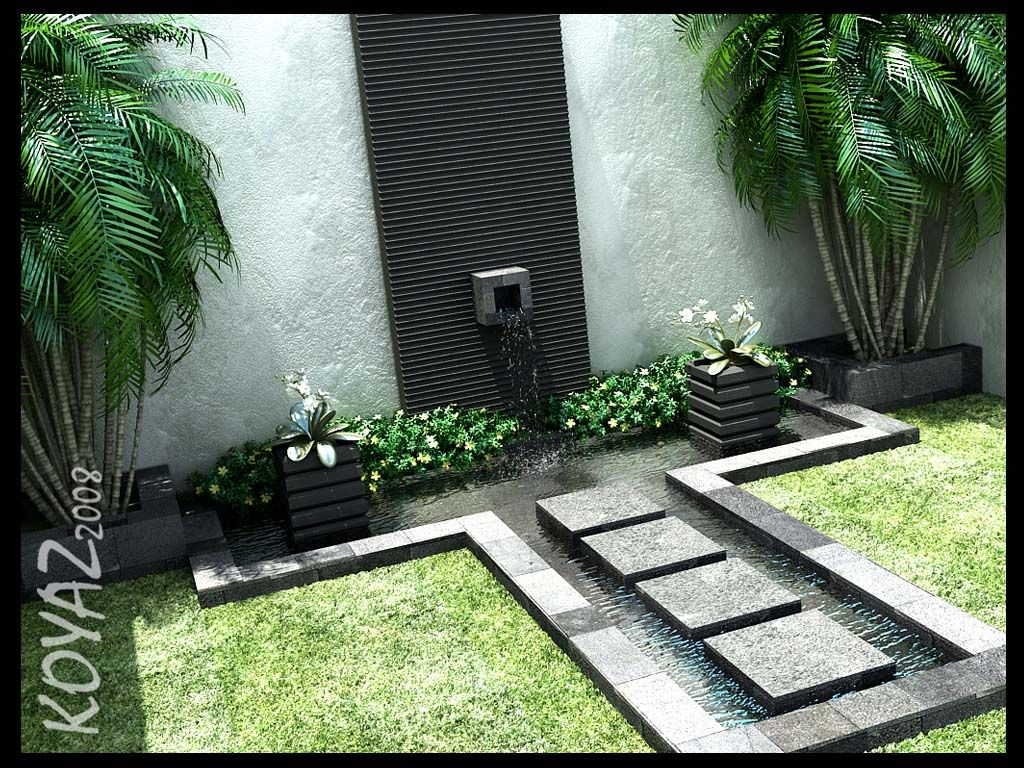 Courtyard Design And Landscaping Ideas Fountains Backyard