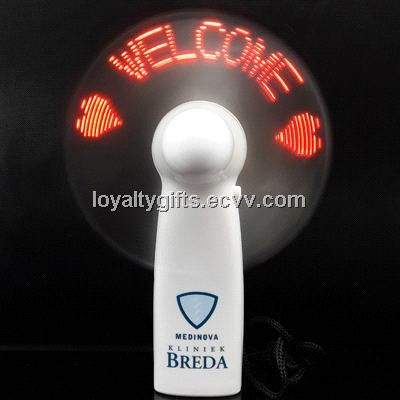 Led Display Flash Message Mini Fan With Aaa Battery Zc Mf004 China Lights Custome